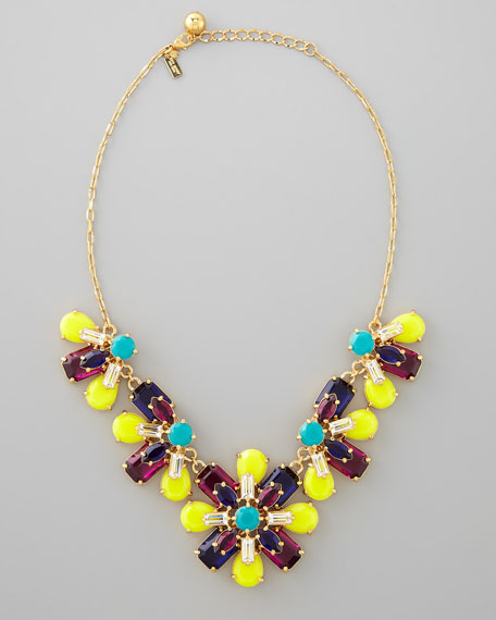kaleidoscope floral necklace