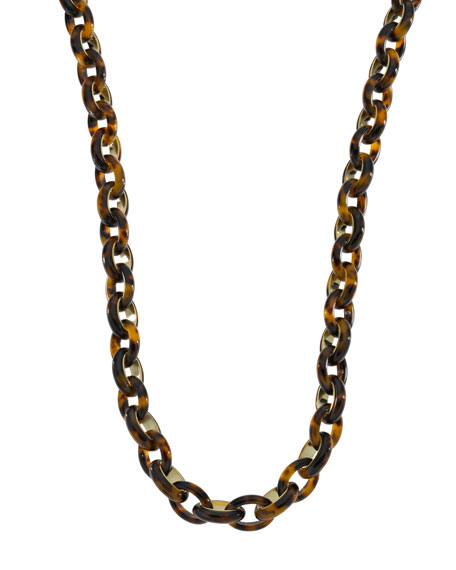 Long Link Necklace, Tortoise