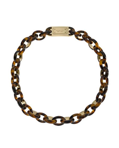 Short Link Necklace, Tortoise