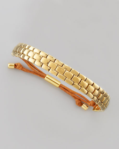 Watch-Link Bracelet, Golden