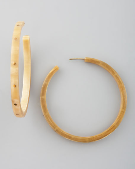 Pande Zote Hoop Earrings, Light Horn