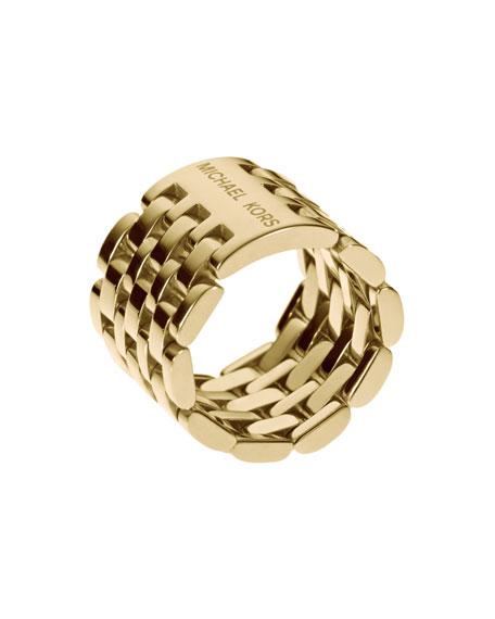 Watch-Link Ring, Golden