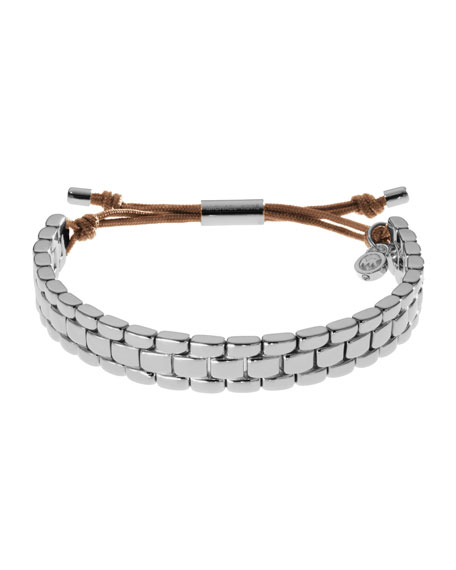 Watch-Link Bracelet, Silver Color
