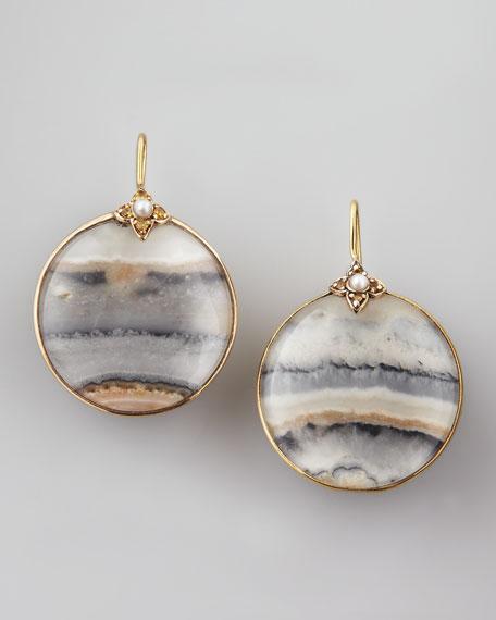 Round Jasper Earrings