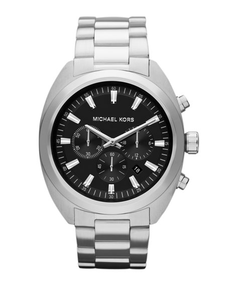 Silver Color Stainless Steel Dean Chronograph Watch