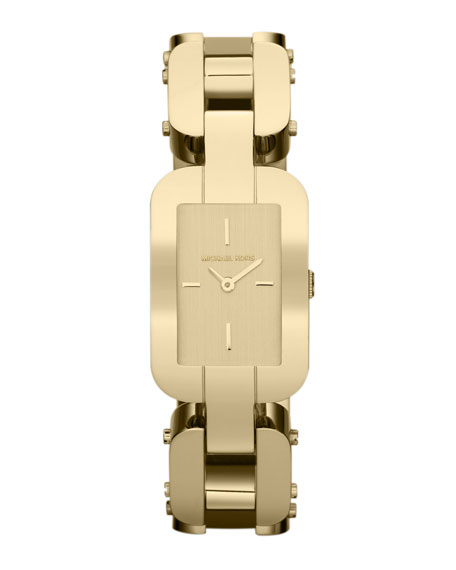 Michael Kors Mid-Size Golden Stainless Steel Brit Three-Hand Watch