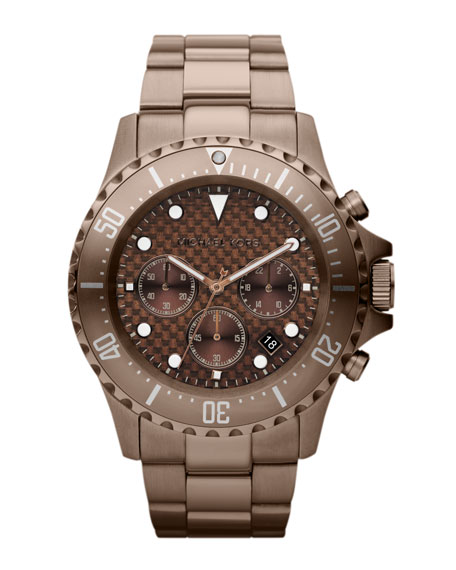 Espresso Stainless Steel Everest Chronograph Watch