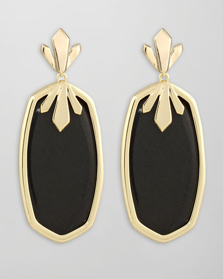Dillon Earrings, Black