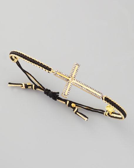 Pave Cross Bracelet, Black