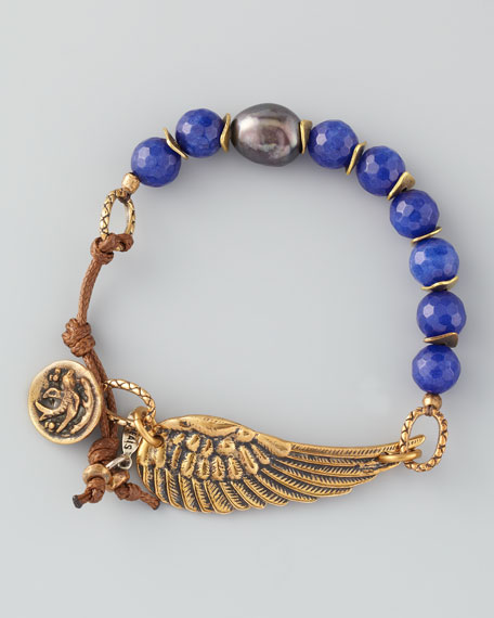 Braided Lapis Bracelet