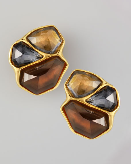 Bel Air Cluster Clip Earrings