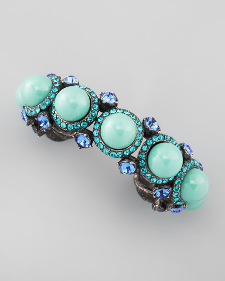 Cabochon & Crystal Bracelet, Turquoise