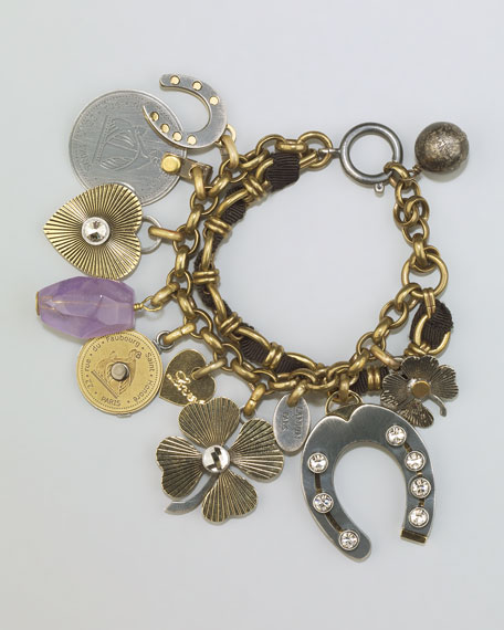 Mixed-Metal Charm Bracelet