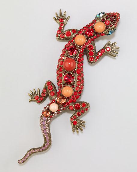 Salamander Brooch, Red