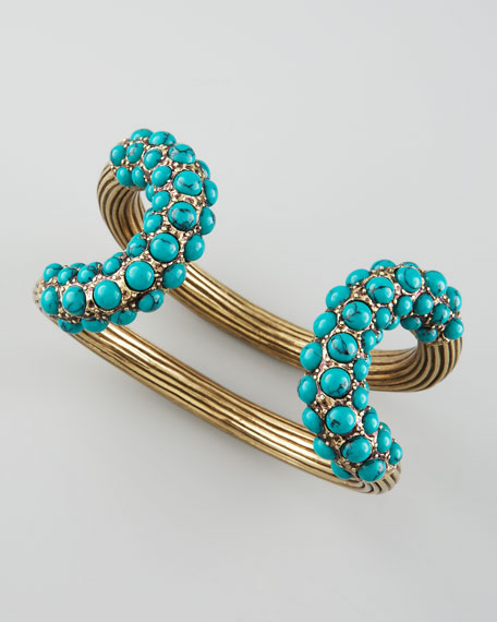 Turquoise-Encrusted Cuff