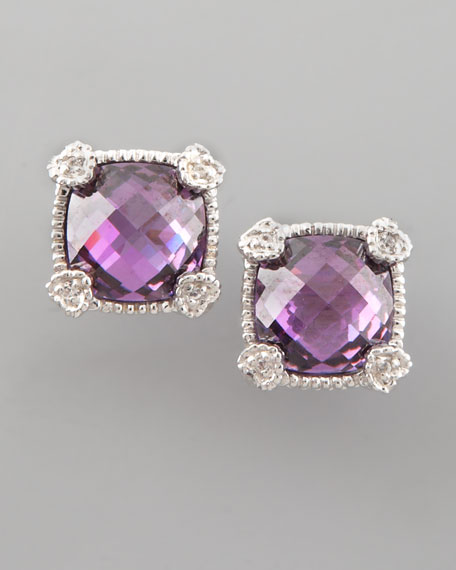 Cushion-Cut Stud Earrings