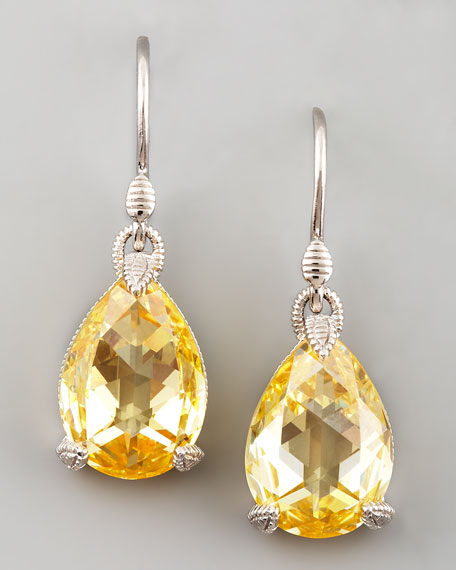 Canary Crystal Teardrop Earrings