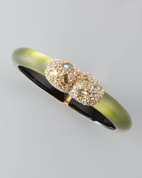 Crystal Pebble Lucite Bracelet