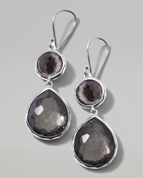 Pyrite Doublet Teardrop Earrings