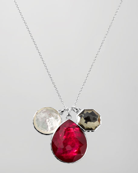 "Three-Pendant Necklace, 32""L"