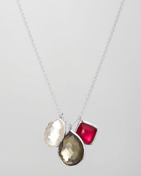 "Three-Pendant Necklace, 18""L"