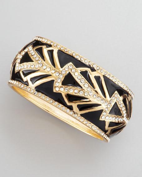Baroque Embellished Bracelet, Black