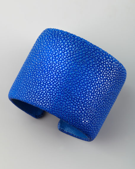 Stingray Cuff, Blue
