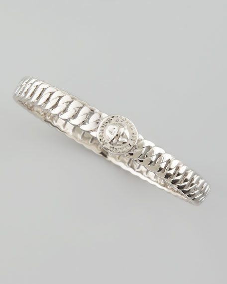 Skinny Turnlock Bangle, Silver