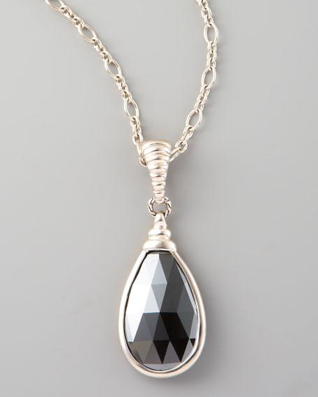 Bedeg Batu Pendant Necklace, Hematite
