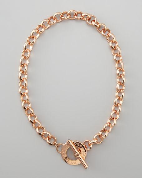 Toggle Choker Necklace, Rose Golden
