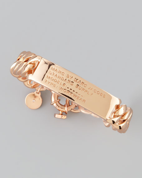 Standard Supply ID Chain Bracelet, Rose Golden