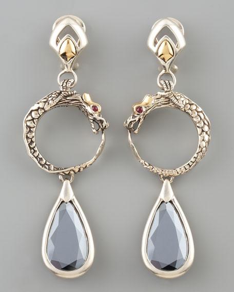 Hematite Naga Drop Earrings