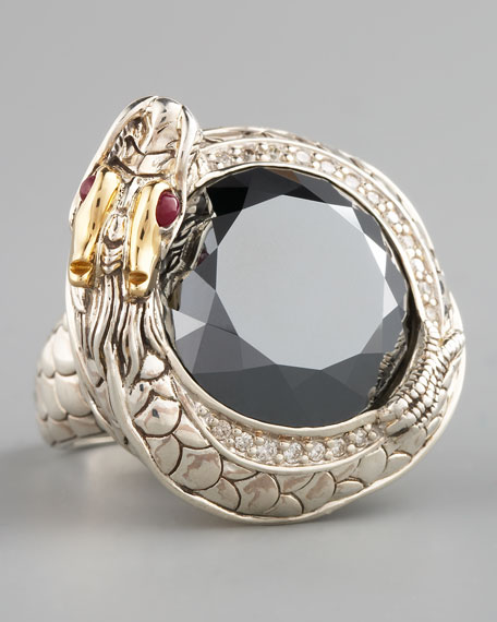 Hematite Dragon Ring, Large