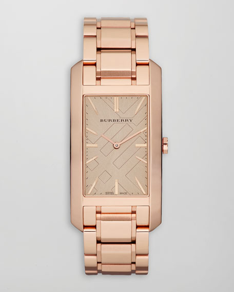 Ion-Plated Rectangular Watch