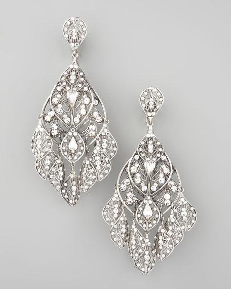 Feather Crystal Earrings