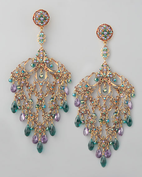 Crystal Lace-Filigree Earrings