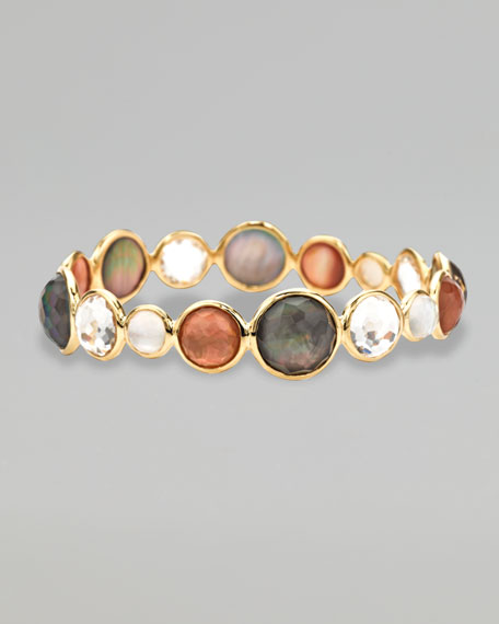 Gold Rock Candy Multi-Stone Bangle