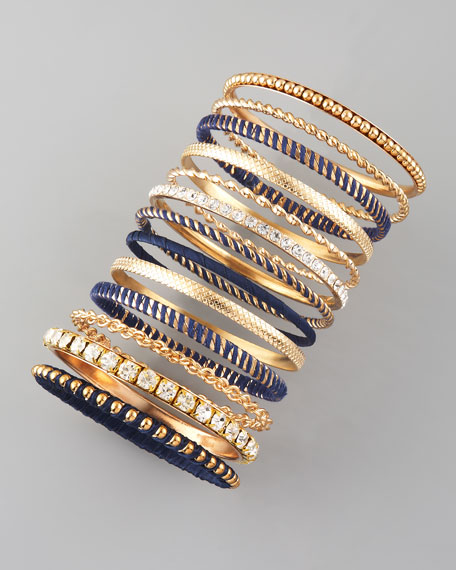 13-Piece Bangle Set, Navy