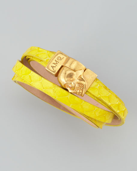 Snake Wrap Bracelet, Bright Yellow