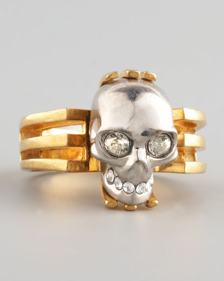 Art Deco Skull Ring