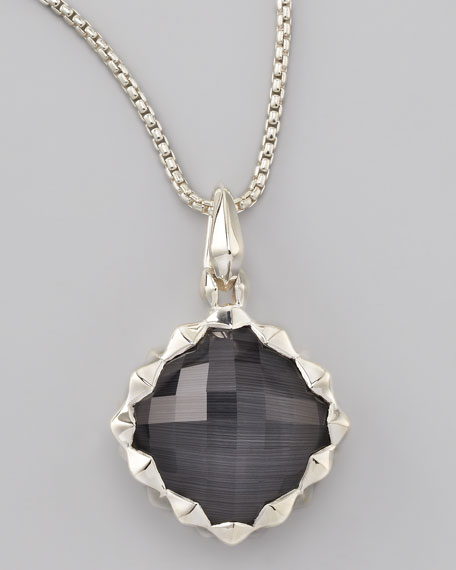 Superstud Cat's Eye Pendant Necklace