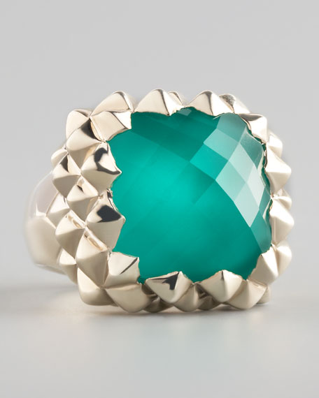 Superstud Small Chrysoprase Ring
