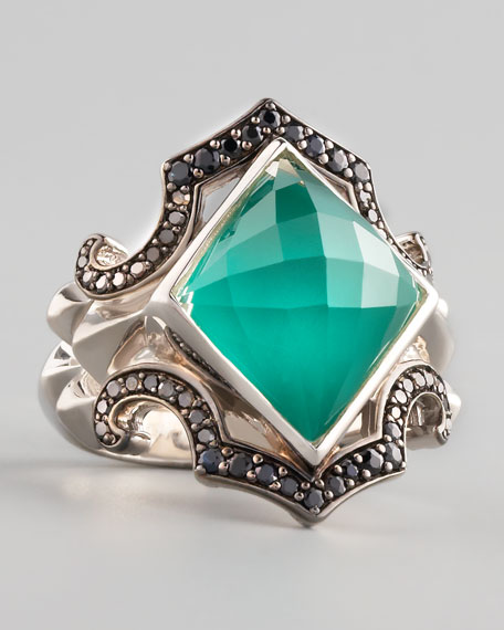 Crystal Haze Chrysoprase Ring