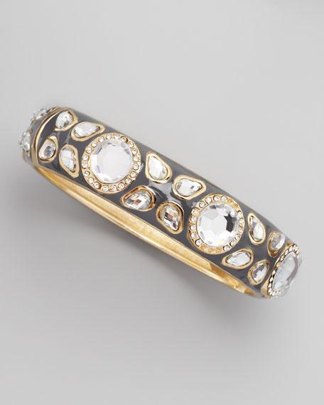 Deco Clear Cabochon Bracelet, Gray
