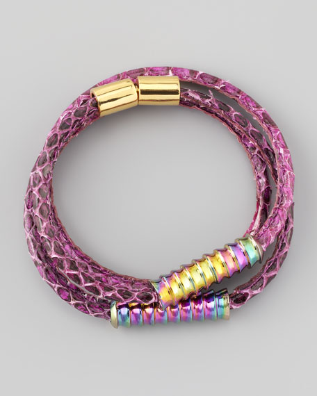 Scaled Wrap Bracelet, Pink