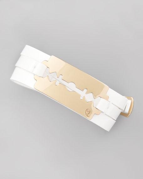 Mini Razor-Blade Wrap Bracelet, White