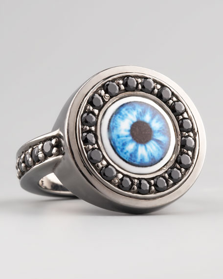 Multicolor Evil Eye Ring