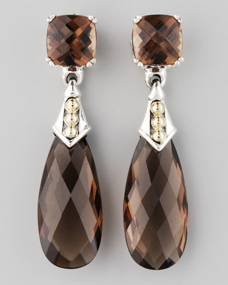 Prism Earrings, Smoky Topaz