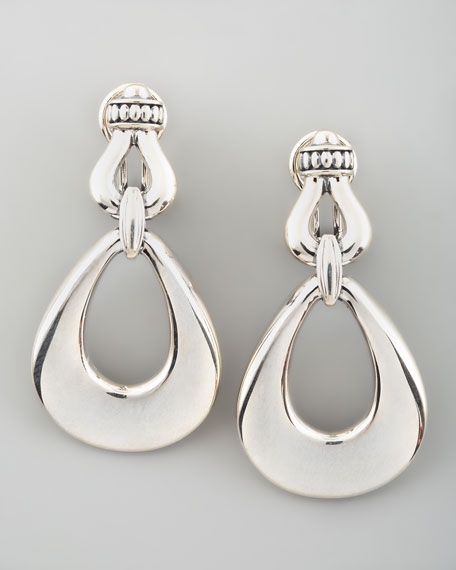 Derby Oval Drop Earrings