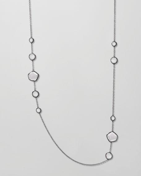 """Clear Quartz Station Necklace, 36""""L"""